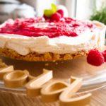 No-Bake Cheesecake mit Himbeeren