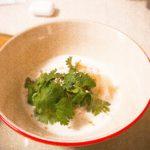 Garnelen Ravioli mit Kokos-Zitronengras Schaum